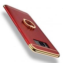 Husa Samsung Galaxy J3 2017, Elegance Luxury 3in1 Ring Rosu