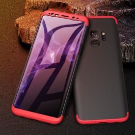 Husa Samsung Galaxy S9 Plus, Elegance Luxury, 360° 3in1 Negru-Rosu