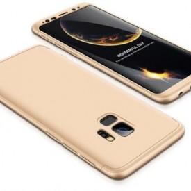Husa Samsung Galaxy S9 Plus, FullBody Elegance Luxury Auriu, acoperire completa 360 grade cu folie de protectie gratis