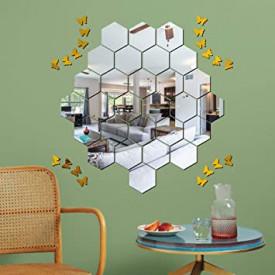 Oglinda Design Hexagon Acrilica Cristal & Diamant - Luxury Home - 18 cm - 1 bucata