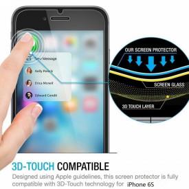 Pachet husa Elegance Luxury 3in1 Ring Silver pentru Apple iPhone 6 / Apple iPhone 6S cu folie de sticla gratis