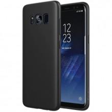 Pachet husa Elegance Luxury Slim Antisoc Black pentru Samsung Galaxy S8 Plus cu folie de sticla Black gratis !