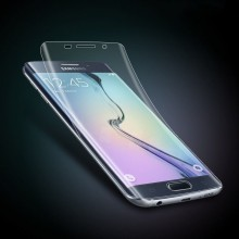 Pachet husa Elegance Luxury X-LEVEL Metalic Black pentru Samsung Galaxy S7 Edge cu folie de protectie gratis