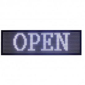 Panou Led de Exterior Programabil/Reclama Luminoasa 167x40 ALB