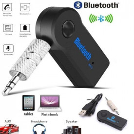 Receptor Bluetooth, Receiver Muzica Auto, AUXILIAR Adapter, Microfon, Muzica si Apeluri In Masina - Jack 3.5mm