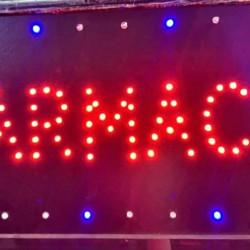 Reclama Text LED - Farmacie / animatie luminoasa dinamica NOU