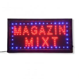 Reclama Text LED - Magazin Mixt / animatie luminoasa dinamica NOU