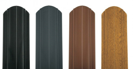 Sipca metalica pentru gard - vopsit ambele fete, Finisaj lucios 0,6 mm