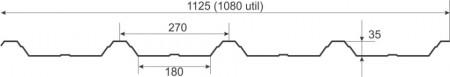 Tabla cutata W35 MAT 0.45 mm
