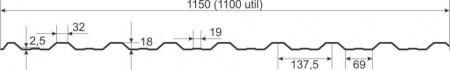 Tabla cutata W18 LUCIOS 0,5 mm