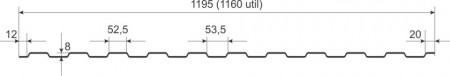 Tabla cutata W8, LUCIOS 0,45 mm