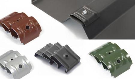 Calota aluminiu cu EPDM 26mm RAL 9006 cutie 100 bc