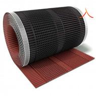 Bandă ventilare coamă Micro Vent 30 cm x 5 m RAL 3009 castaniu
