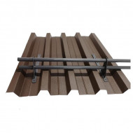 Set Parazapada cilindrica 2 ml cu 3 suporti tabla cutata, sandwich panel