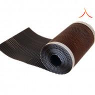 Bandă ventilare coamă Micro Vent 30 cm x 5 m RAL 8019 maro închis