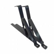 Suport grilaj parazapada 2m pentru tigla metalica, RAL 9005 negru