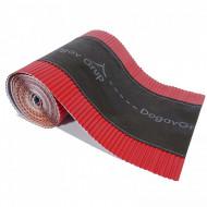 Bandă ventilare coamă Geo Vent 30 cm x 5 m RAL 3011 roșu
