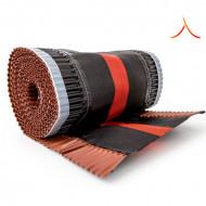 Bandă ventilare coamă Tech Vent 23 cm x 5 m RAL 8004 roșu cărămiziu