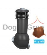Cos ventilare tigla metalica Ø125 mm Profil P