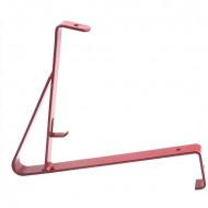 Suport grilaj parazapada 2m pentru tigla ceramica /beton, RAL 3011 rosu visiniu
