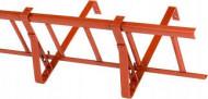 Suport grilaj parazapada 2m pentru tigla ceramica /beton, RAL 8004 rosu caramiziu