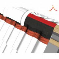 Bandă ventilare coamă Tech Vent 23 cm x 5 m RAL 3011 roșu