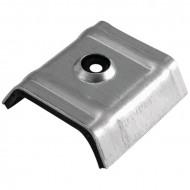 Calota aluminiu cu EPDM 26mm RAL 9002 cutie 100 bc
