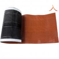 Bandă ventilare coamă Micro Vent 30 cm x 5 m RAL 8004 roșu cărămiziu