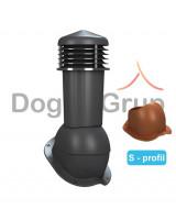 Cos ventilare 125 mm pentru tigla metalica Profil S