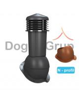 Cos ventilare tigla metalica Ø125 mm Profil N
