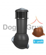 Cos ventilare tigla metalica Ø125 mm Profil S