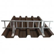 Set Parazapada grilaj 3m cu 5 suporti, ZINCAT tabla cutata 60 mm
