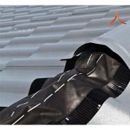 Bandă ventilare coamă Geo Vent 15 cm x 5 m RAL 8019 maro închis