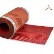 Bandă ventilare coamă Micro Vent 30 cm x 5 m RAL 3011 roșu