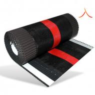 Bandă ventilare coamă Tech Vent 23 cm x 5 m RAL 8017 maro