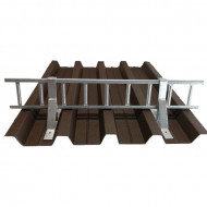 Set Parazapada grilaj 3m cu 4 suporti, ZINCAT tabla cutata 60 mm