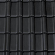 Tigla ceramica Creaton Titania, negru mat angoba NUANCE