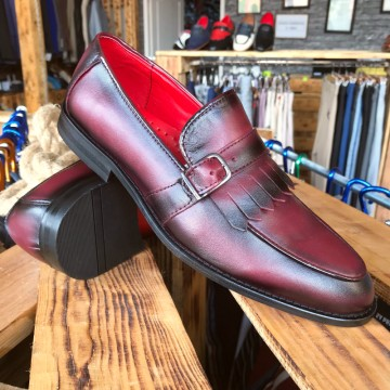 Poze Pantofi Barbati din PIELE Naturala 100% cod: 128BORDO