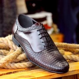 Poze Pantofi Casual din PIELE Naturala 100% cod: 456Bordo