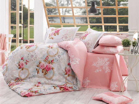 Lenjerie Pat 2 persoane Hobby Clementina – Pink COD:1009