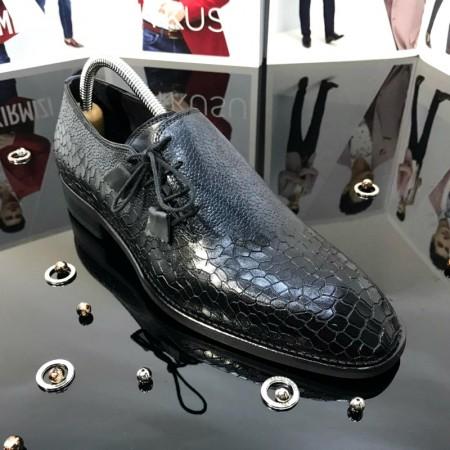 Pantofi Barbati NEGRU-BLEO din PIELE Naturala 100% cod: TG25