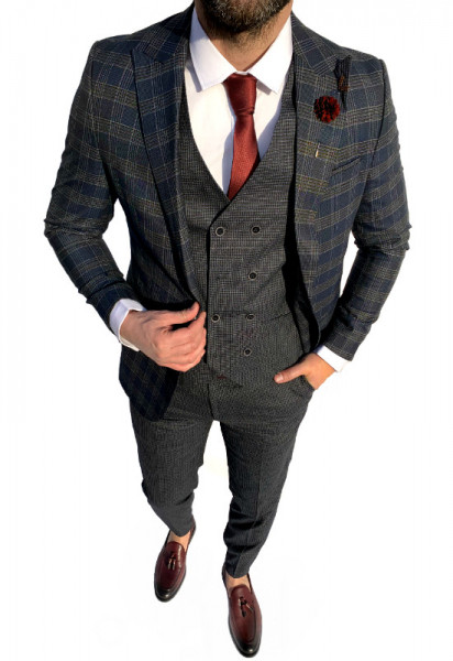 Poze Costum Office 3 Piese Model 2020 LIMITED EDITION cod: CTB376