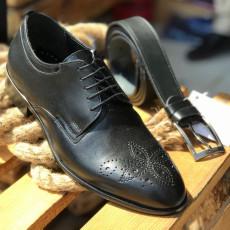 Pantofi Barbati din PIELE Naturala 100% cod: NVM27