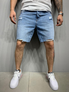 PANTALONI SCURTI DESTROYED BLUE COD : PSAS44