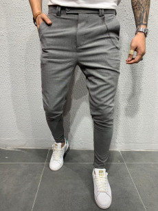 PANTALONI SLIM FIT ZIPPER ANTRACIT COD : BGAS311