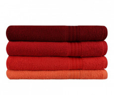Set 4 prosoape de baie Rainbow Red 70x140 cm COD:H119