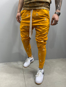PANTALONI SLIM FIT SKULL YELLOW COD : BGAS441