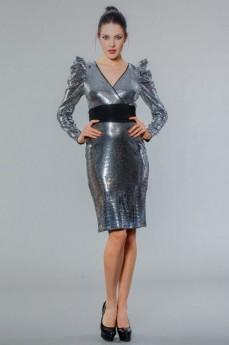 Rochie de seara din paiete cu maneci lungi COD: RS01