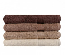 Set 4 prosoape de baie Rainbow Brown 70x140 cm COD:H114