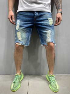 PANTALONI SCURTI DESTROYED DIRTYBLUE COD : PSAS33